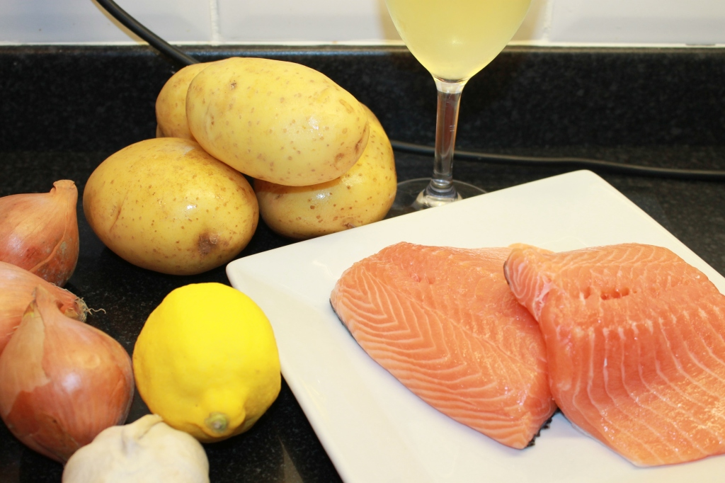 Celebrating the End of the World with Salmon and Fondant Potato