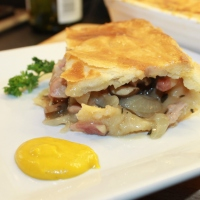 Double Crust Chicken and Mushroom Pie